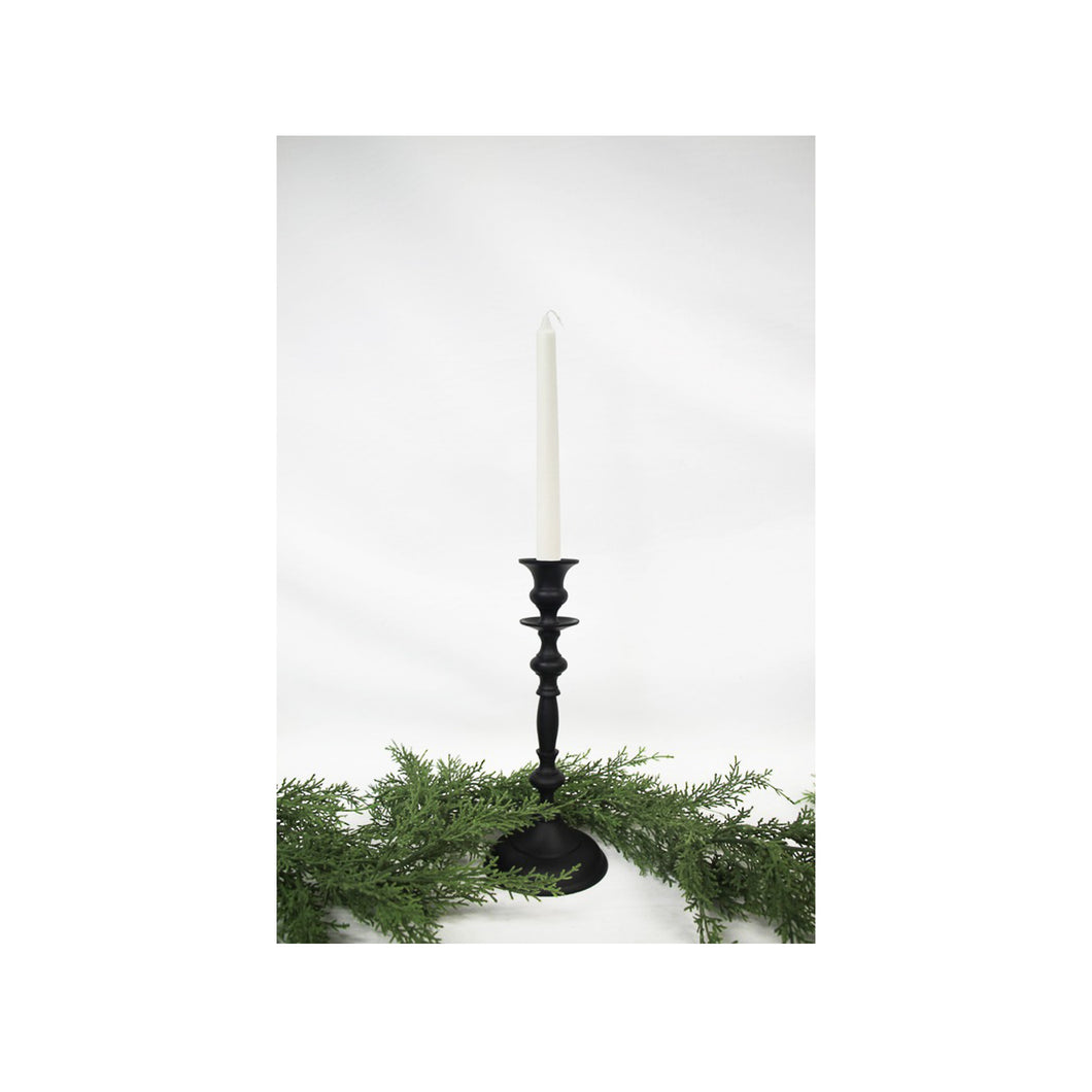 Classic Black Candle Holder 28cm Homewares nz