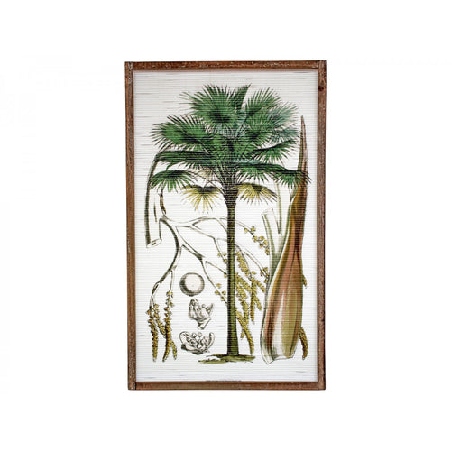 Grand Palm On Bamboo In Natural Frame