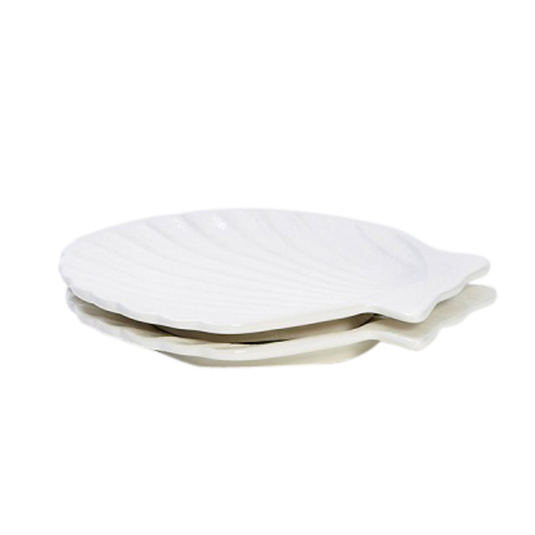Scallop Plate - White  Homewares nz