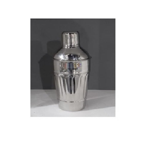 Pressed Pillar Stainless Steel Cocktail Shaker 22cm