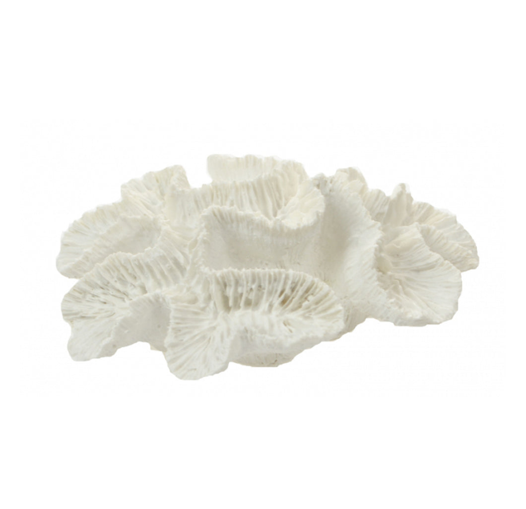 White Poly Flower Coral Homewares nz