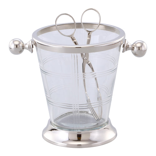 Marquess Glass Ice Bucket & Tongs  Homewares nz