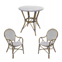 Load image into Gallery viewer, Hamptons Rattan Dining Set - Blue & White