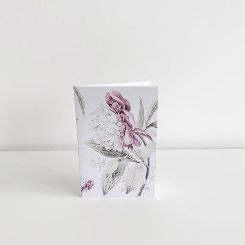 Mini Greeting Card - Vintage Peonies Homewares nz