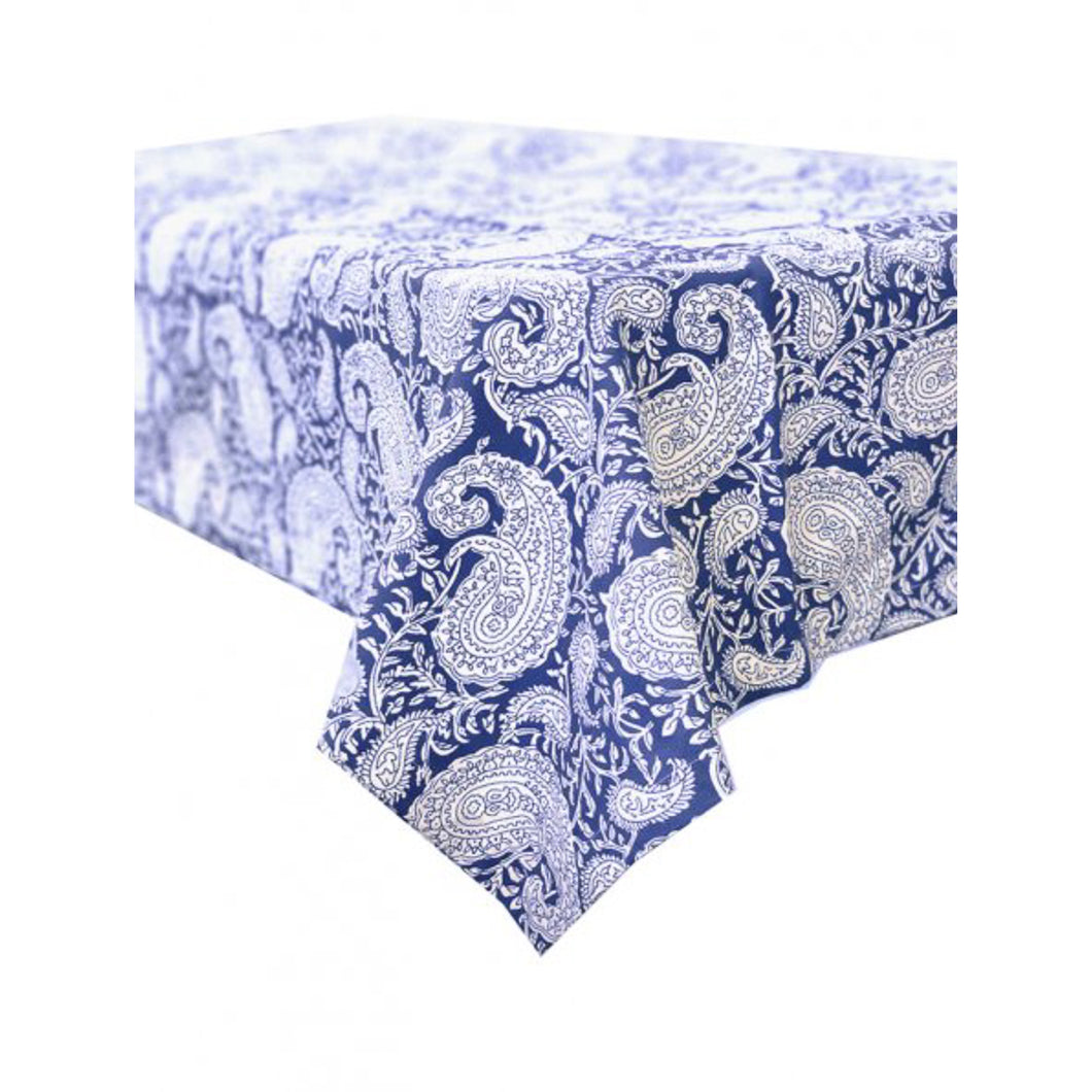 Paisely Blue Lagoon Square Tablecloth 150x150cm Homewares nz