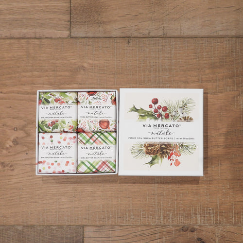 Pre de Provence Set Of 4 Christmas 50g Soaps In Box