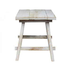 White Washed Square Stool  Homewares nz