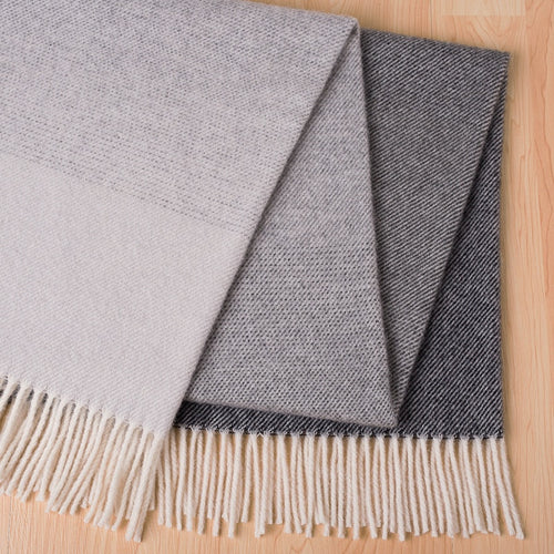 Piha NZ Lamb Wool Throw - Grey & Black  Homewares nz
