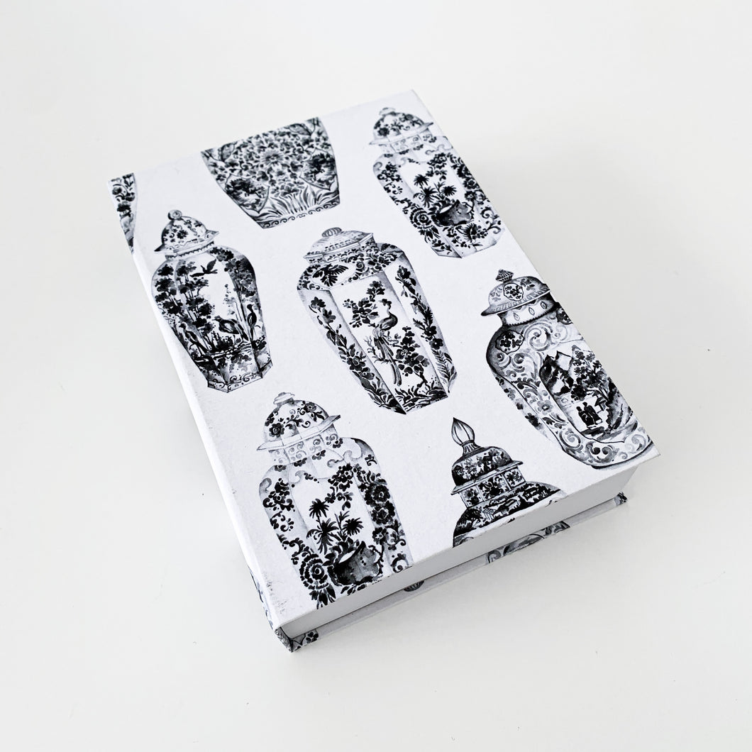 The French Villa Ginger Jars Notepad - Black & White