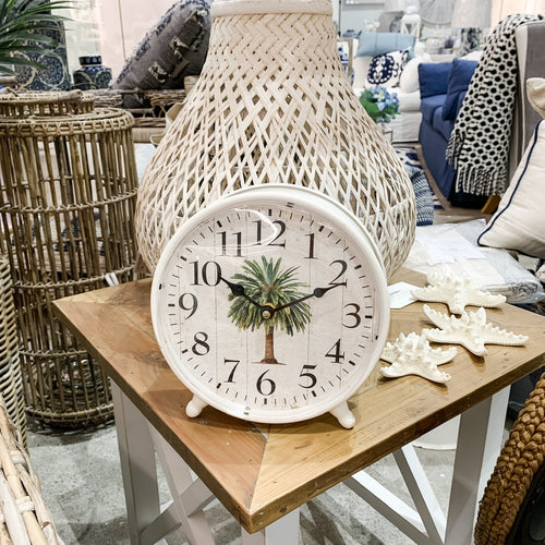 Date Palm Table Clock 23cm