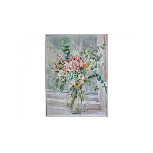 Pretty Bouquet Canvas In Frame