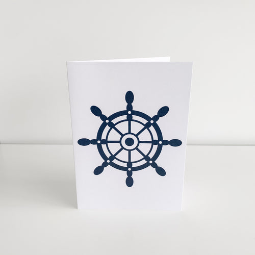 Standard Greeting Card - Ship Wheel Homewares nz
