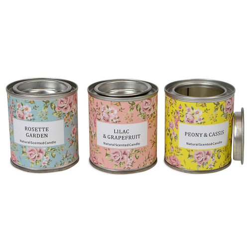 Set Of 3 Garden Candles