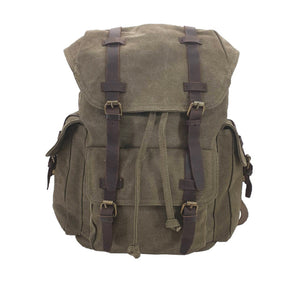 Shepherd Canvas & Leather Travel Rucksack - Green