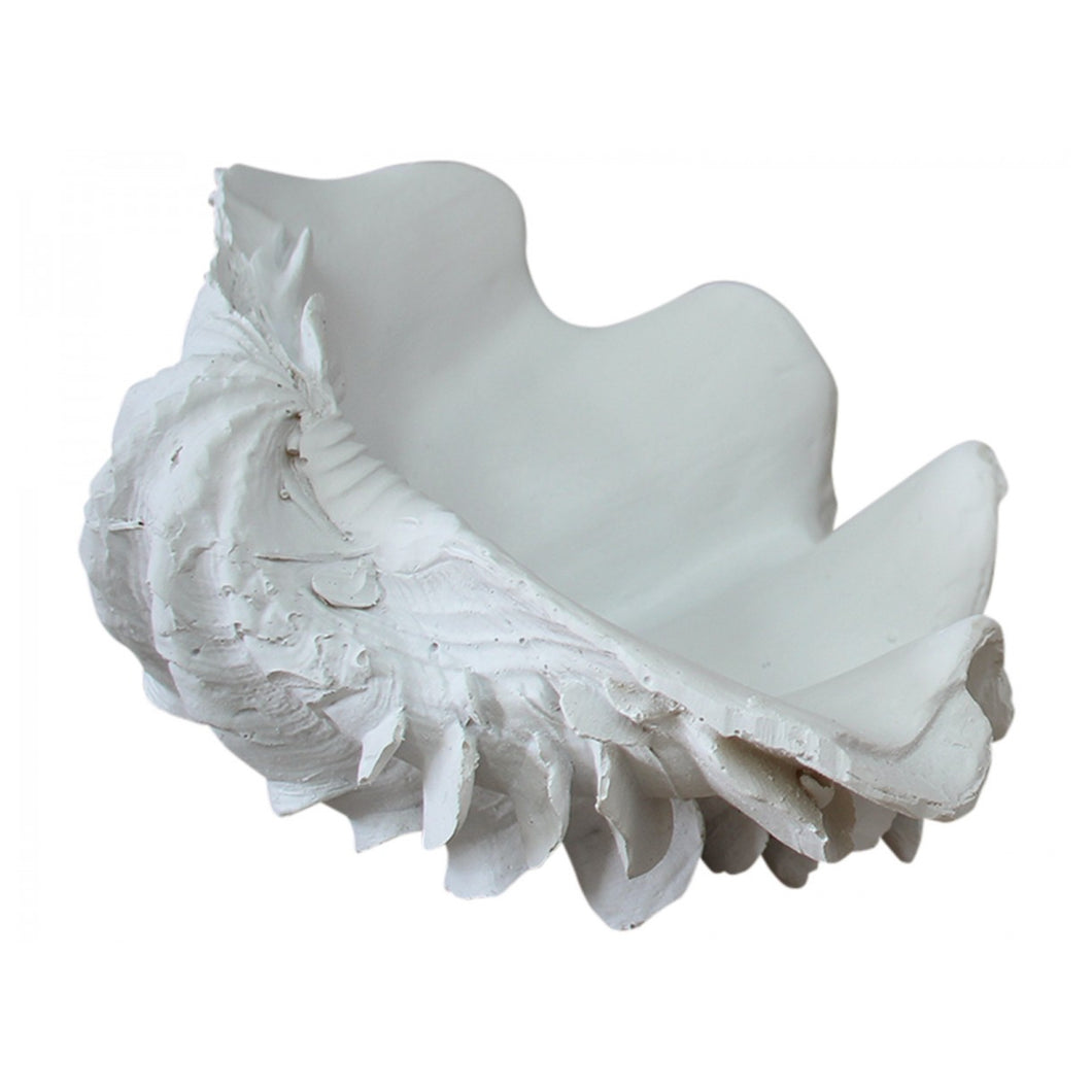 White Clam Shell Bowl 23cm  Homewares nz