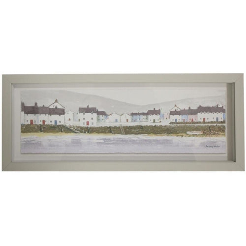 Beachfront Town In Natural Frame  Homewares nz