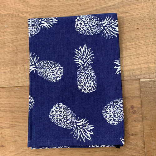 Pineapple Blue Cotton Tea Towel 50x70cm