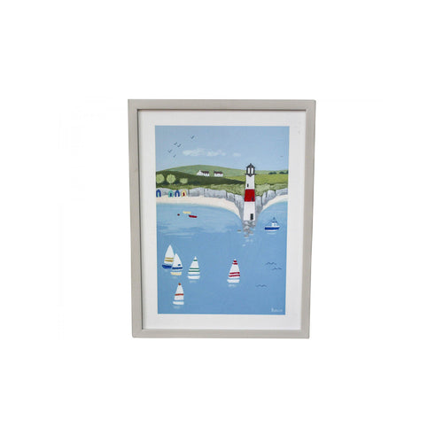 The Lookout Print In White Frame