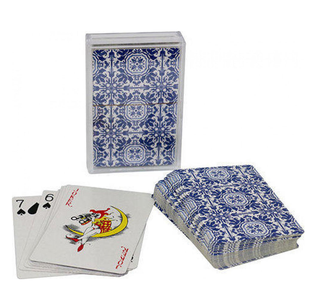 Moroccan Blue Tile Playing Cards Homewares nz