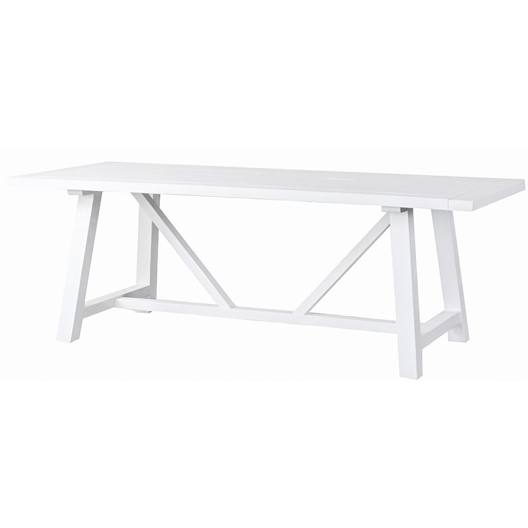 Newport Trestle Dining Table 220x95cm White The French Villa