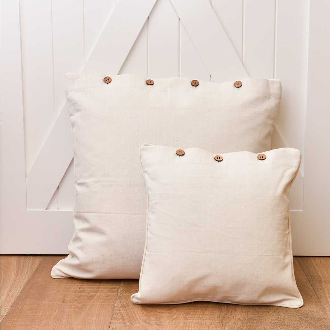 Canvas Scatter Cushion 40x40cm - Natural Homewares nz