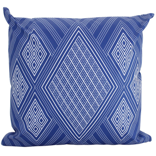 Highlands Outdoor Cushion 50x50cm - Blue & White Homewares nz