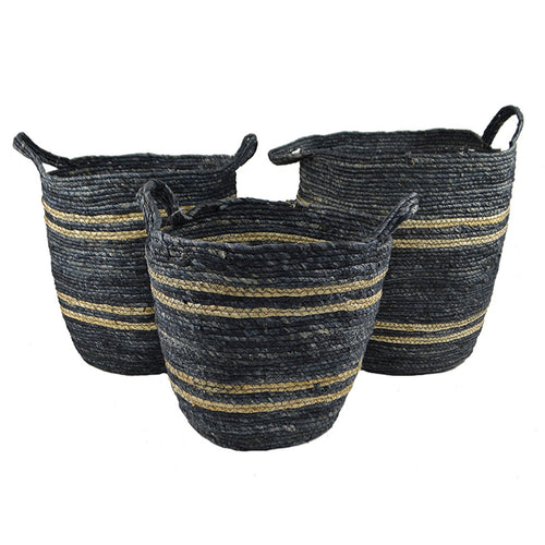 Maize Navy Basket - Medium  Homewares nz