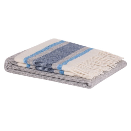 Ohope NZ Lamb Wool Throw - Grey & Navy  Homewares nz