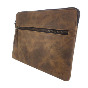 Tigger Buffalo Leather Ipad Sleeve Zip Case - Brown Homewares nz