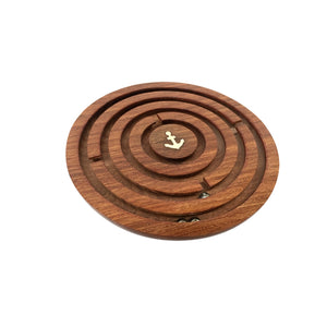 Nautical Wooden Ball In A Maze Puzzle