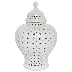 Minx White Temple Ginger Jar 30cm - Small Homewares nz