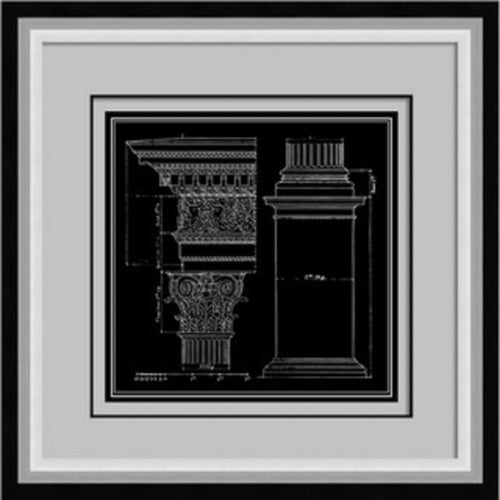 Architect Sketch Pillar Print In Frame  Homewares nz