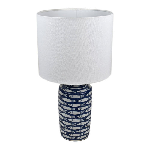 Pescha Blue & White Lamp  Homewares nz