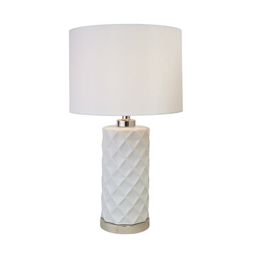 Hamptons White Lamp With White Shade Homewares nz