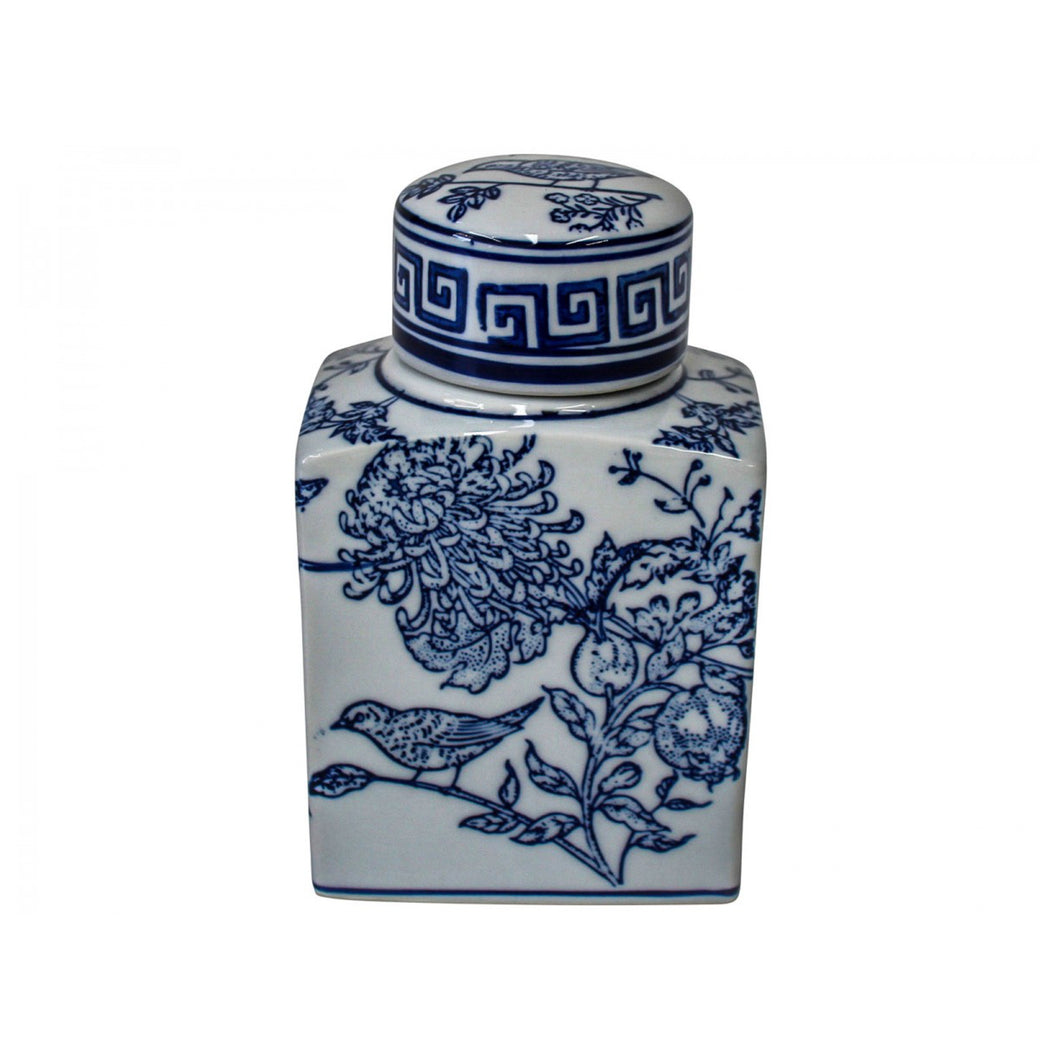 Classic Blue Bird Jar 16cm Homewares nz