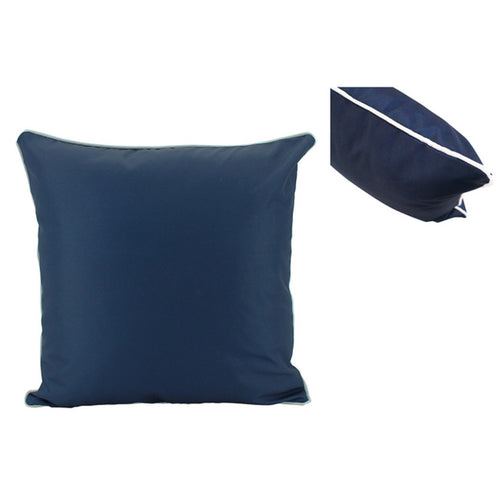 Navy Outdoor Cushion With White Piping 50x50cm Homewares nz