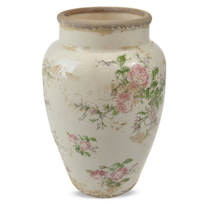 Vintage Rose Urn 31cm - Medium  Homewares nz