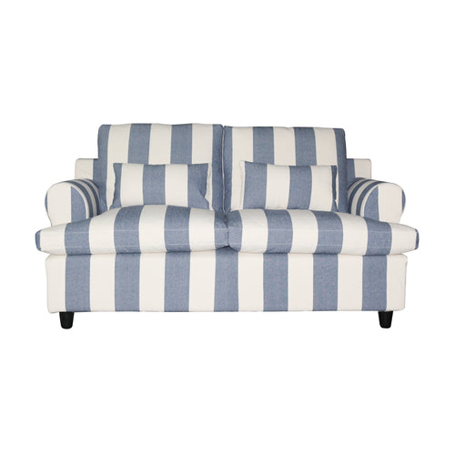 Nantucket 2 Seater Sofa - Blue & Off White Stripe