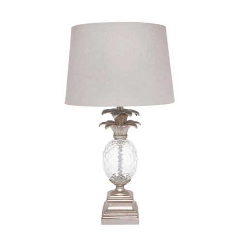 Langley Antique Silver Table Lamp 66cm Homewares nz
