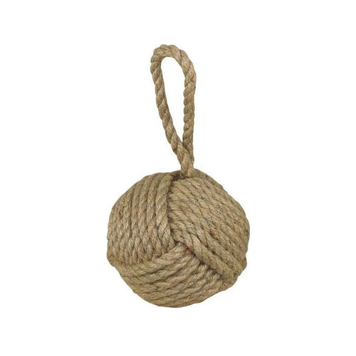 Rope Knot Doorstop - Natural