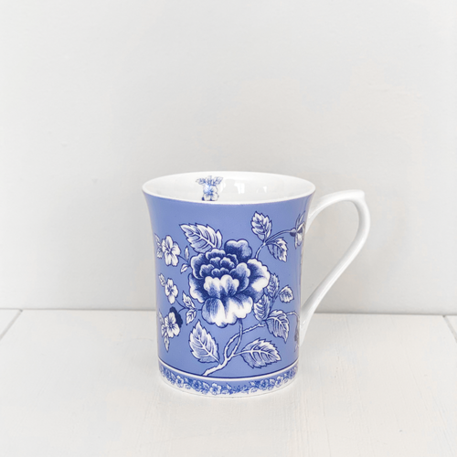 Albertine Fine Bone China Mug - Blue & White