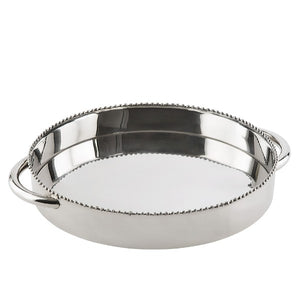 Beaded Polished Tray With Handles  Homewares nz