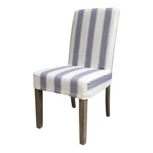 Blue Multi Stripe Dining Chair Cover  Homewares nz
