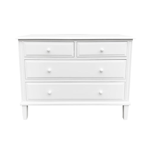Cape Cod 4 Drawer Chest - White  Furniture nz