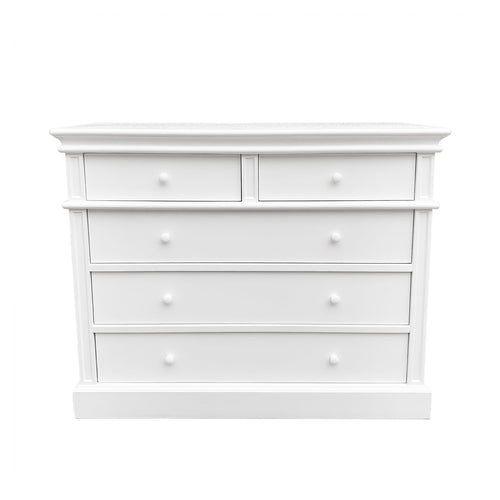 Cape Cod 5 Drawer Chest - White  Furniture nz