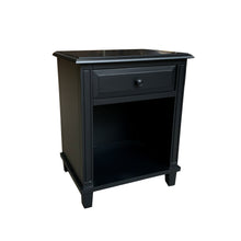 Load image into Gallery viewer, Cape Cod Bedside Table - Black  Furniture nz
