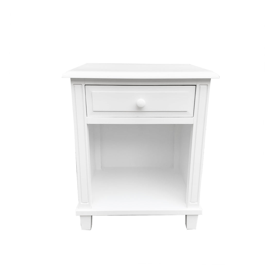 Cape Cod Bedside Table - White  Furniture nz