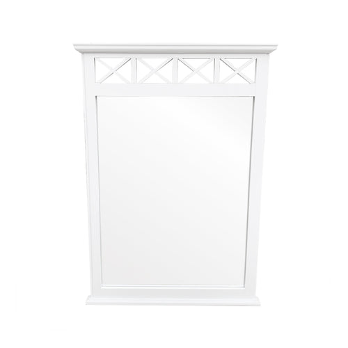 Cape Cod Criss Cross Mirror - White  Homewares nz