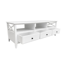 Load image into Gallery viewer, Cape Cod 3 Drawer Entertainment Unit - White Furniture nz