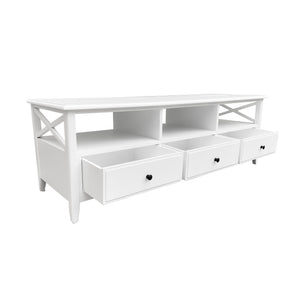 Cape Cod 3 Drawer Entertainment Unit - White Furniture nz